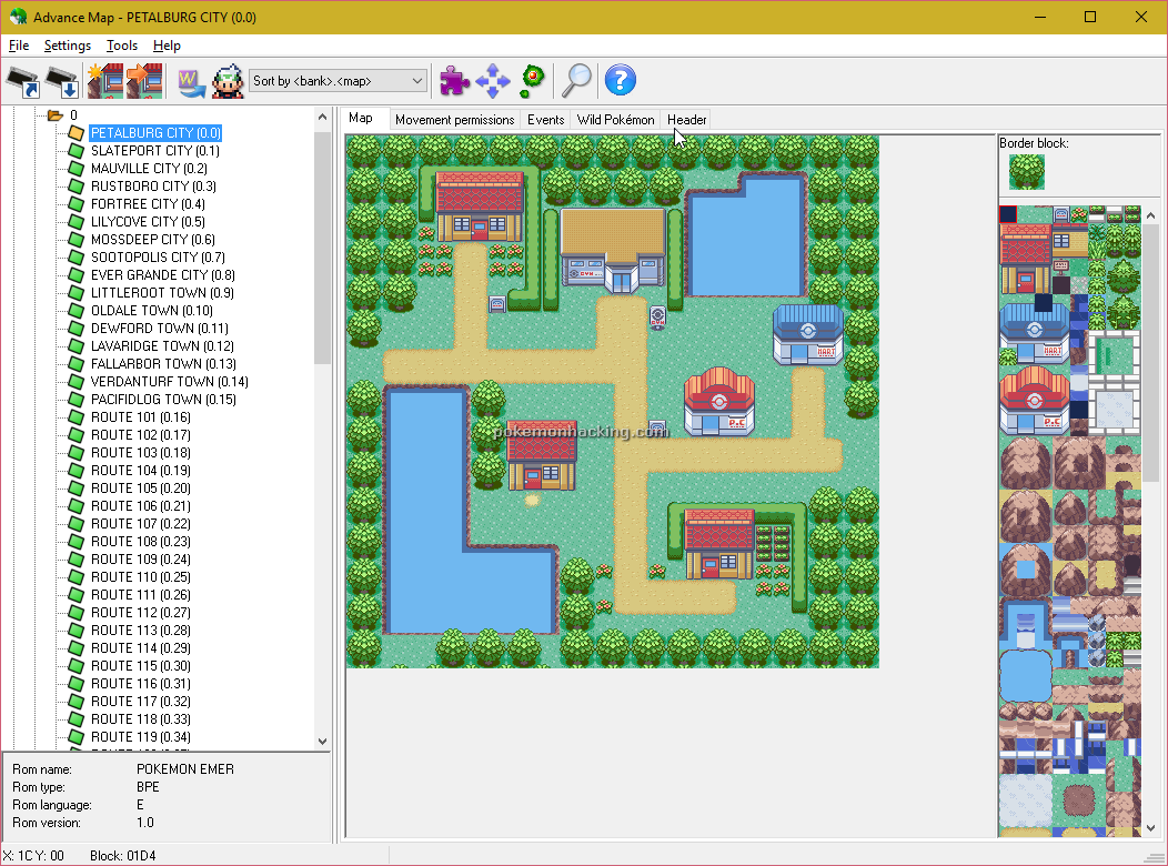 Advance Map Screenshots