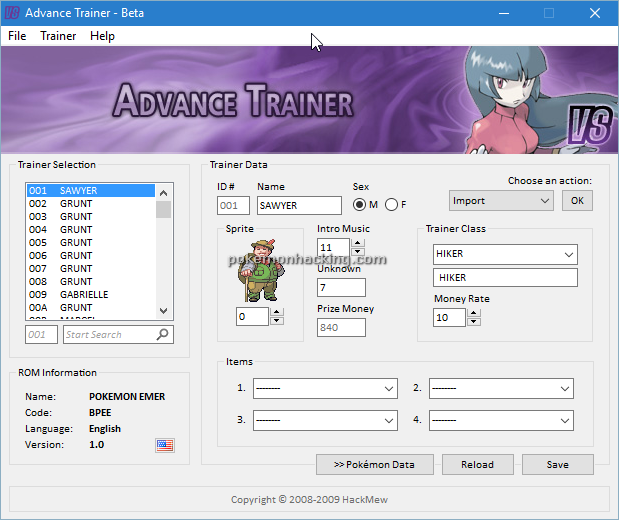 Advance Trainer Screenshots