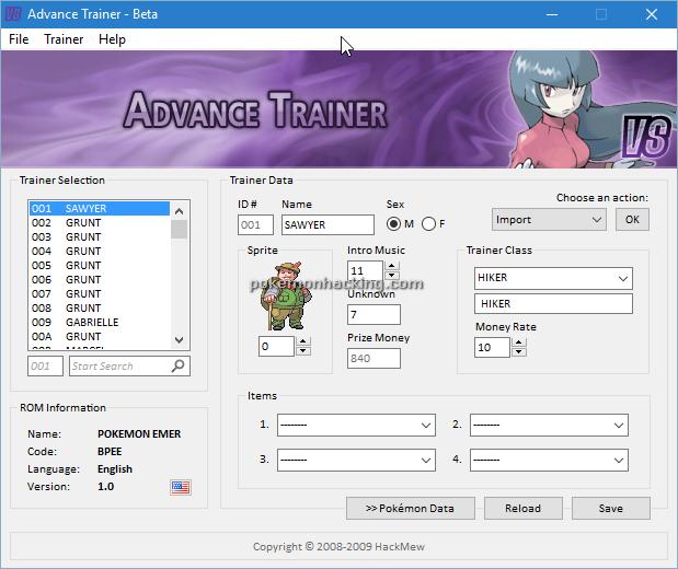 Advance Trainer Screenshots