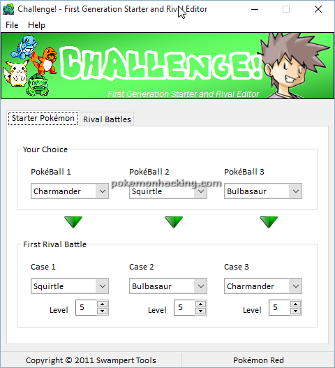 Challenge-Starter and Rival Editor Screenshots