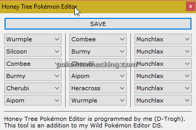 Honey Tree Pokemon Editor Screenshots