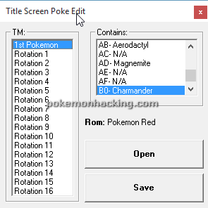 Pokemon Titlescreen Editor Screenshots