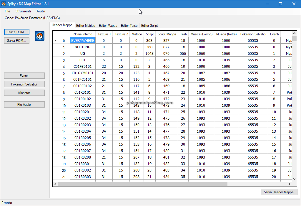 Spiky's DS Map Editor Screenshots